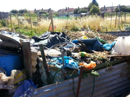 even plotholders aren't averse to flytipping