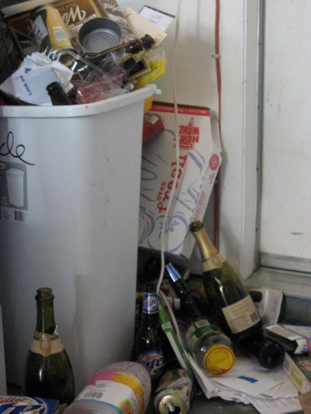 Recycling at your university: If it looks like this, then probably no recycling system is in place