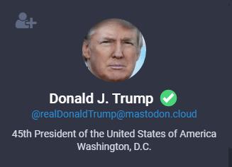 007.-Donald-J-Trump-op-mastodon Nieuw in social media land: de Twitter-concurrent Mastodon!