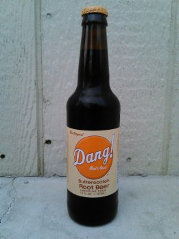 Dang! That's Good Butterscotch Root Beer Glass Bottle