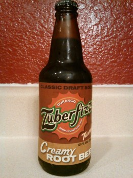 Zuberfizz Creamy Root Beer Glass Bottle