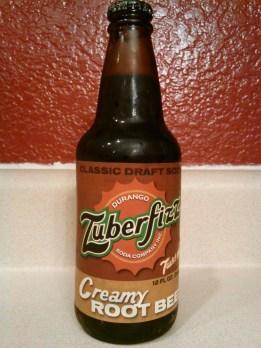 Zuberfizz Creamy Root Beer Glass Bottle