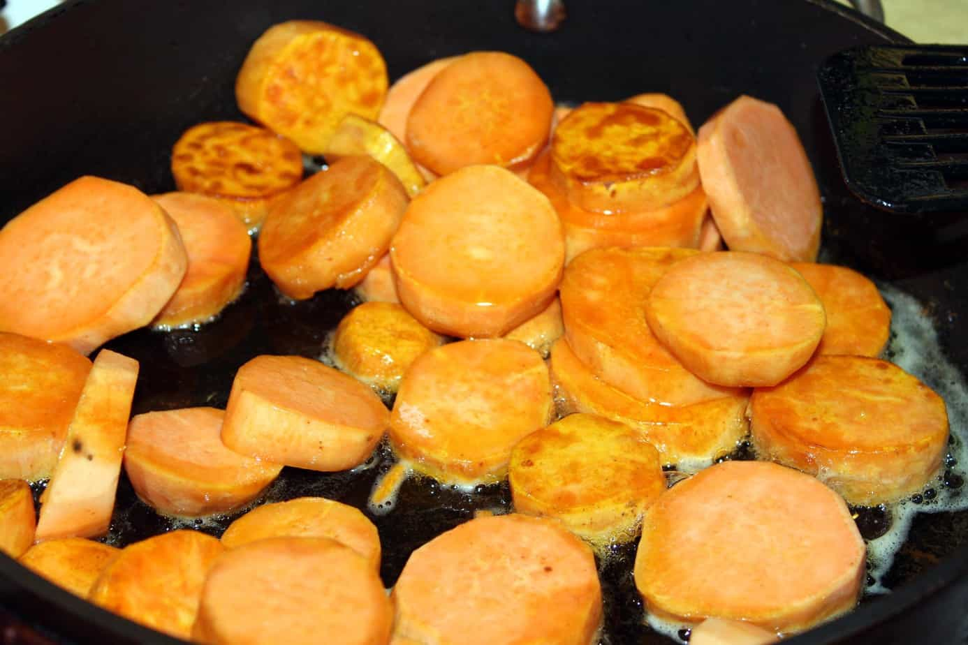 whiskey caramelized sweet potatoes