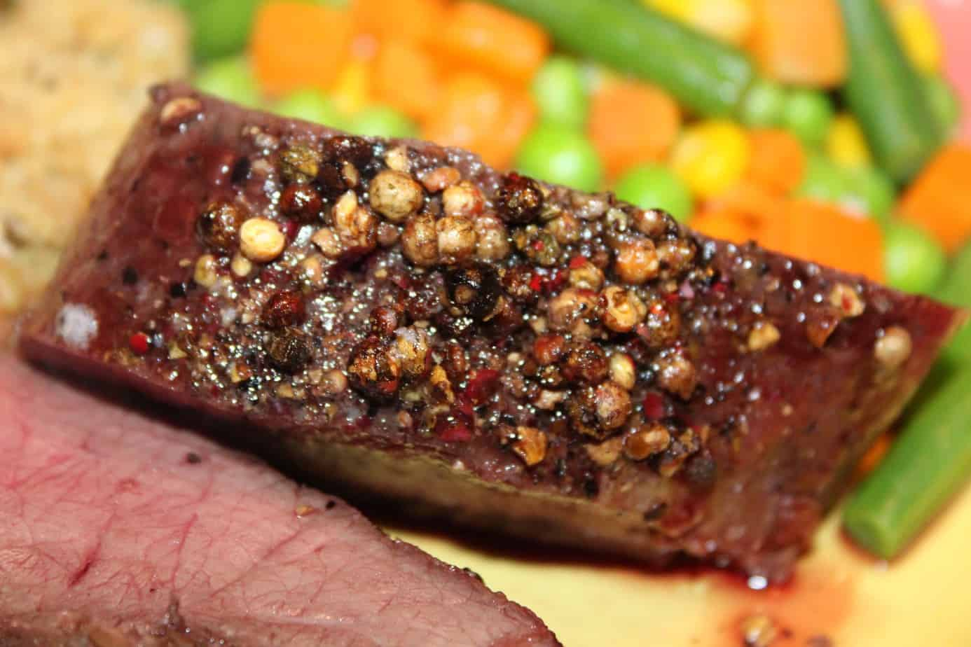 Peppercorn Venison Tenderloin