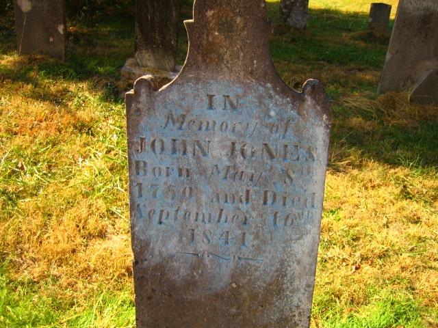 John Jones, 1750-1841