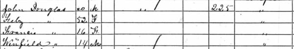 JD Douglas 1860 Census