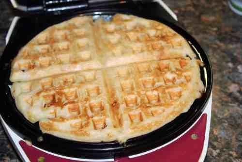 White Chocolate Macadamia Nut Waffles