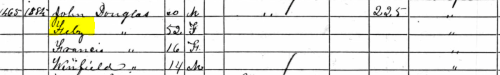 1860 Census John JD Douglas