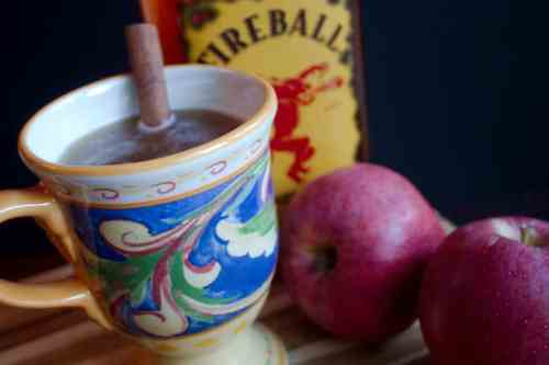 Apple Juice Cider with Whiskey