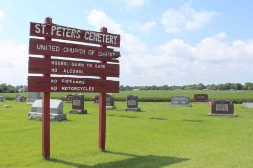St. Peters Cemetery Sign