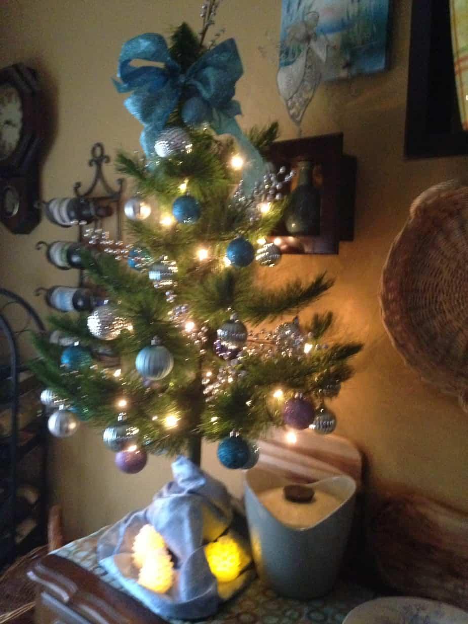 Blue Frozen Christmas tree