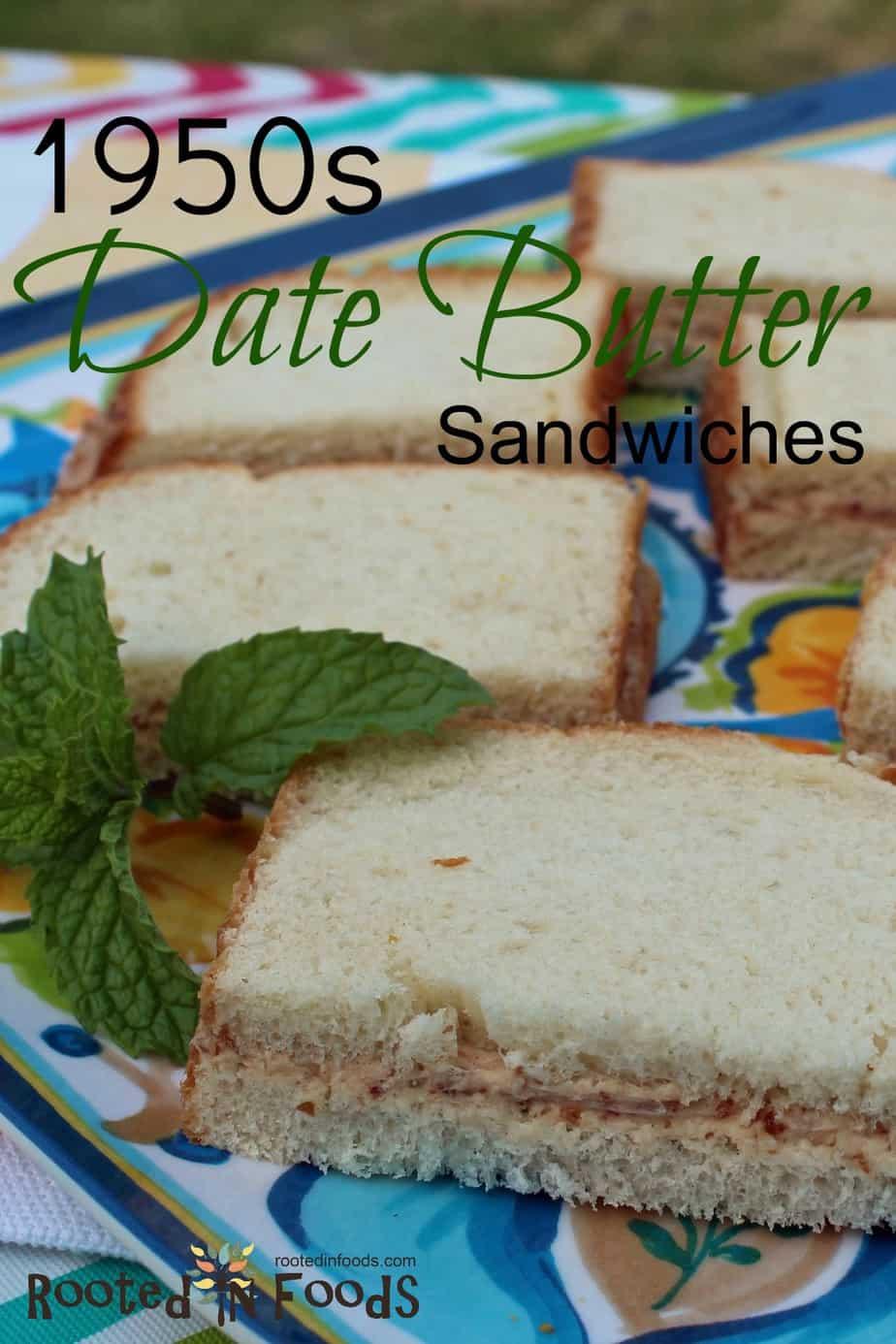 Date butter sandwiches