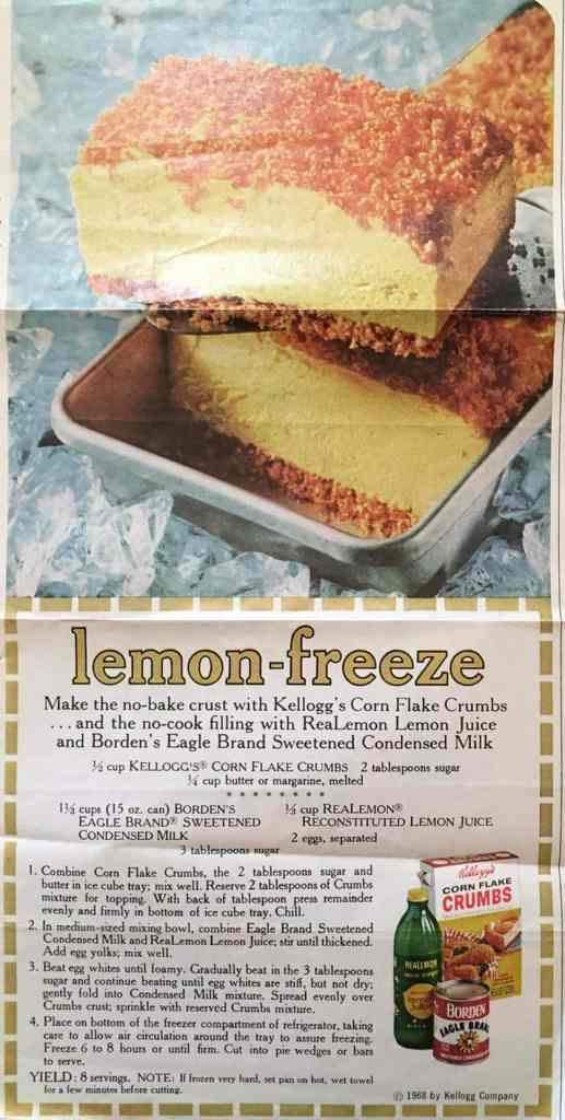 brand name recipe lemon freeze