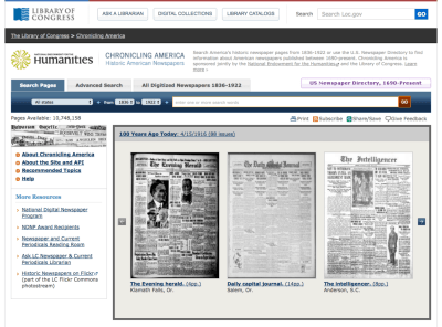 Library of Congress genealogy