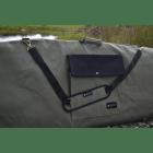 Close up of the desert roll top board bag pocket