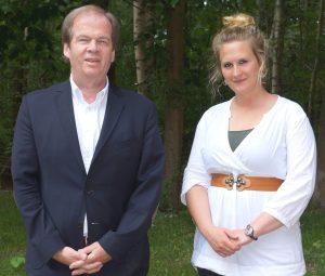 Professor Verreet (left), Ms. Gesine Thomsen