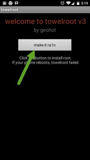Towelroot App Screen