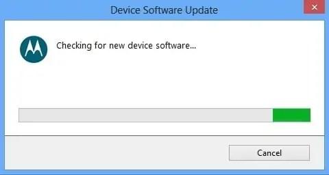 Motorola Device Software Update