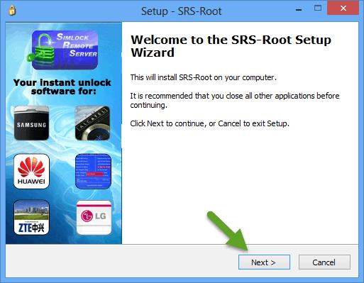 SRS Root Setup Wizard