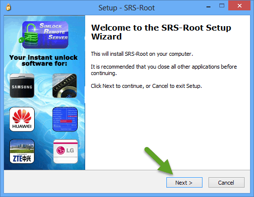 SRS Root Setup Wizard