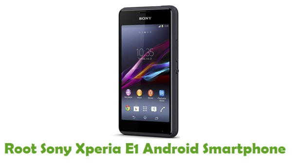 How To Root Sony Xperia E1 Android Smartphone