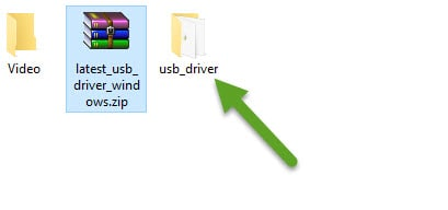 Extract USB Driver On Your Computer