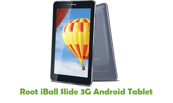 How To Root iBall Slide 3G Android Tablet