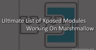 Ultimate List of Xposed Modules Working On Marshmallow