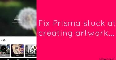 Fix Prisma stuck at creating artwork