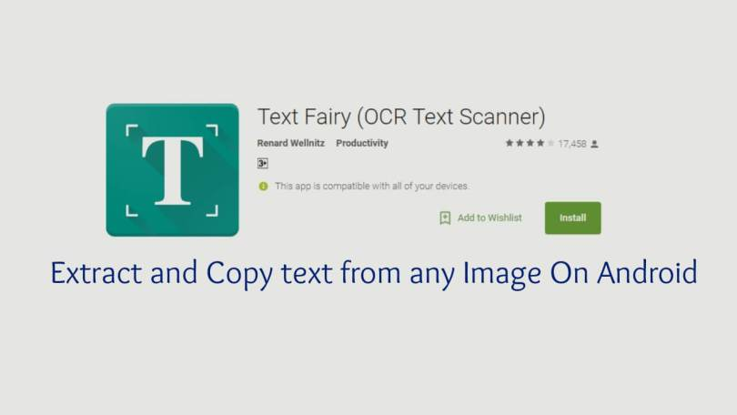 Extract and Copy text from any Image On Android