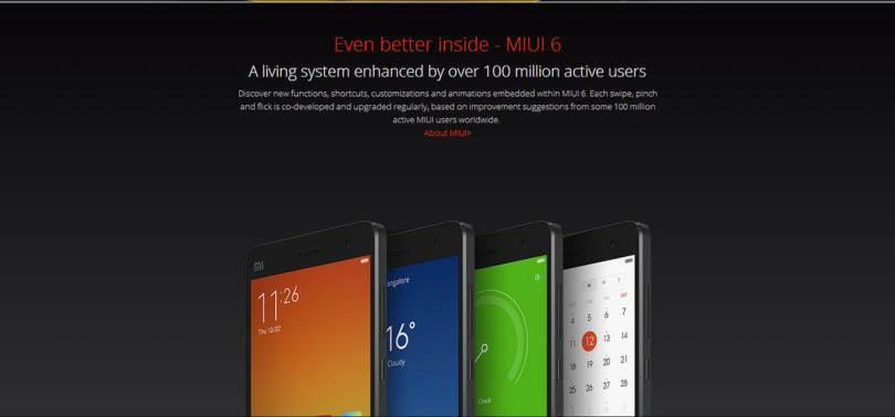 Xiaomi Mi4 Software MIUI