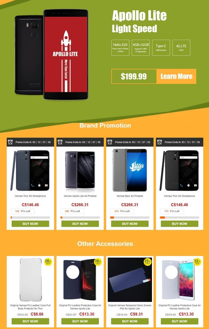 All product lists-Vernee phablets promotional Sale