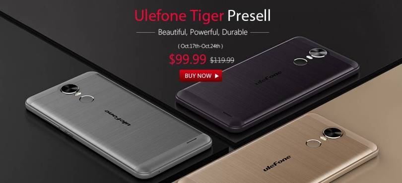 Ulefone Tiger 4G Presell Started