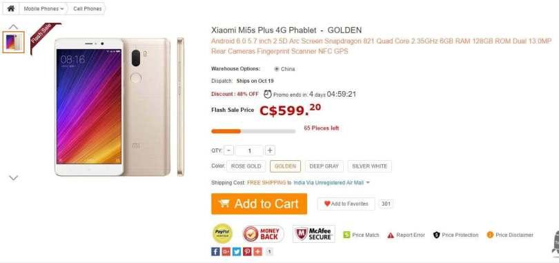 Xiaomi Mi5 Plus Promotional Sale-6GB RAM,128GB ROM