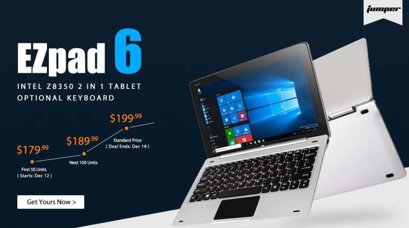 Jumper EZpad 6 and Other 2 in 1 Tablet PC Sale
