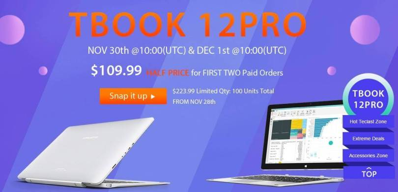 Teclast Tbook 12 Pro Review and Special Sale