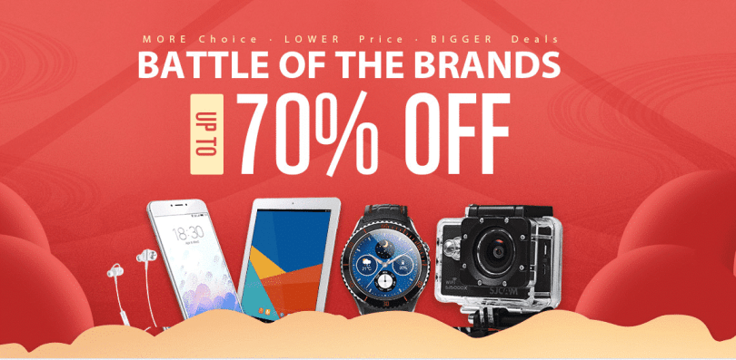 GearBest's Battle of Brands Promotional Sale 2017 (Upto 70% off)