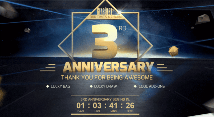 Gearbest 3rd Anniversary warm up promotion Sale (Huge Discounts)