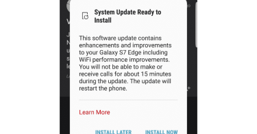 Samsung Galaxy S7 edge update