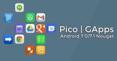 Pico GApps Nougat