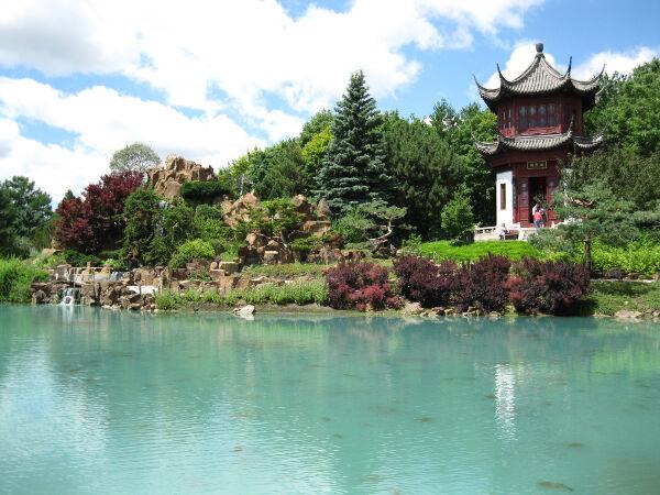 Jardin Botanique - Botanical Gardens.  Chinese garden.