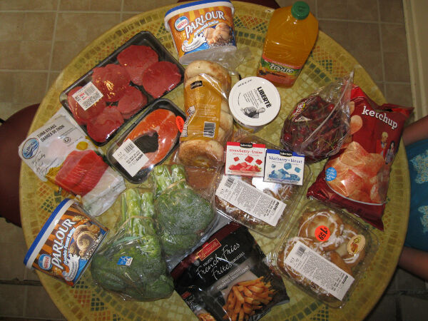 A grocery run from our last Canada trip
