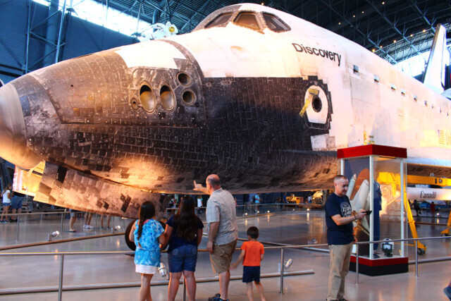 The Space Shuttle up close.