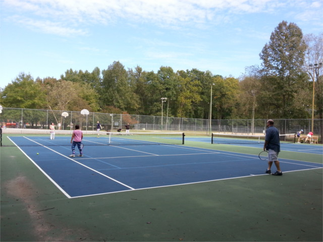 We are contributing to the tennis court overcrowding problem.