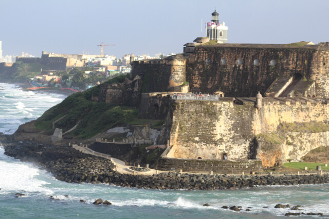 Castillo San Cristobal fort. Since Puerto Rico is a territory of the United States, the US National Park Service maintains the fort.