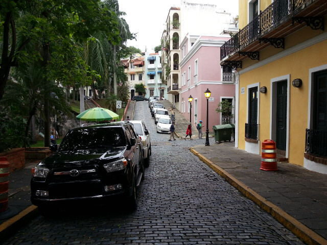 The streets of Old San Juan.