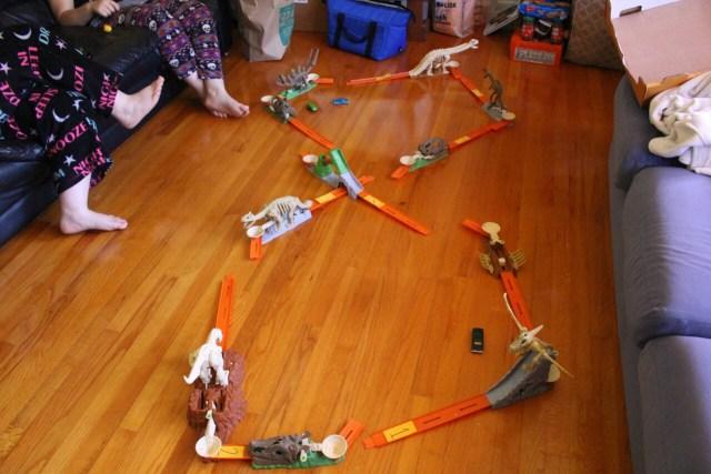 toys on floor