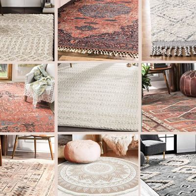 a collage of rugs