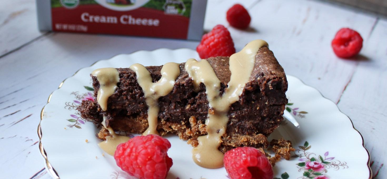 Coffee Glazed Mocha Cheesecake