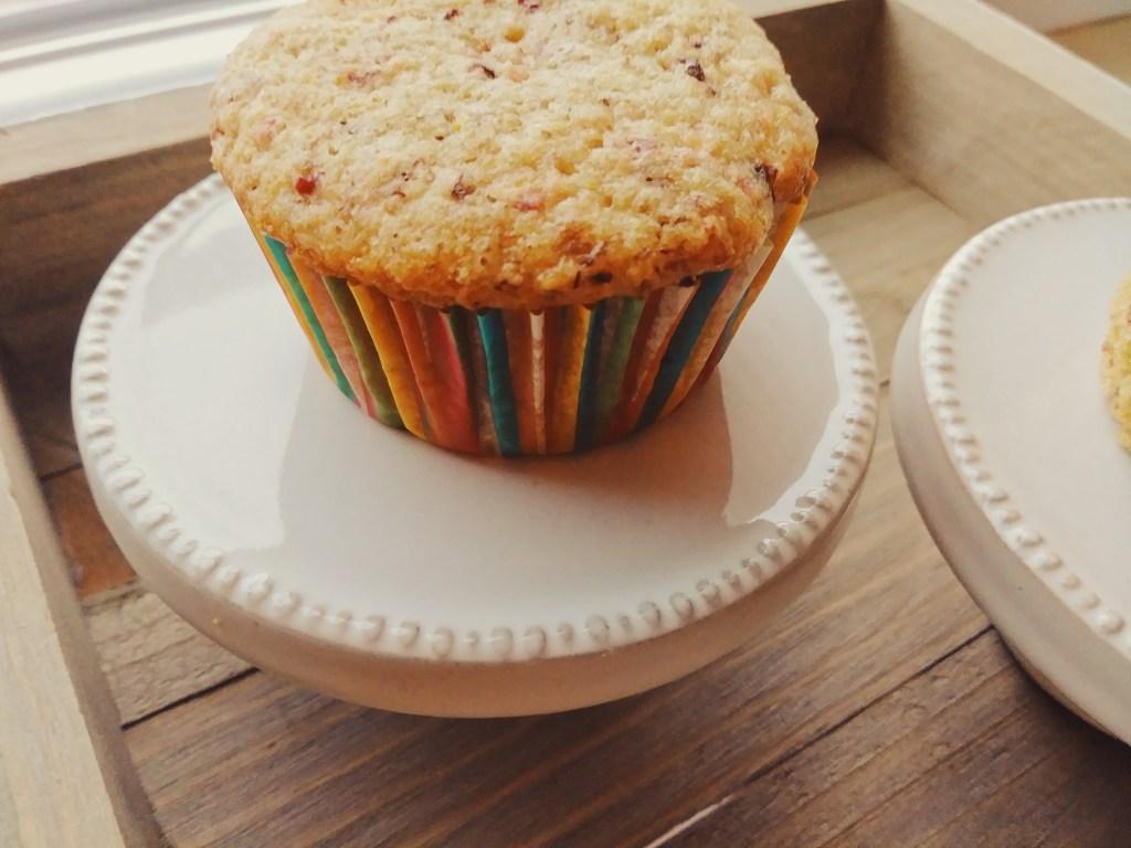 Vegan cranberry orange muffins